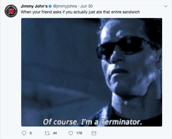 Jimmy Johns Brand Personality