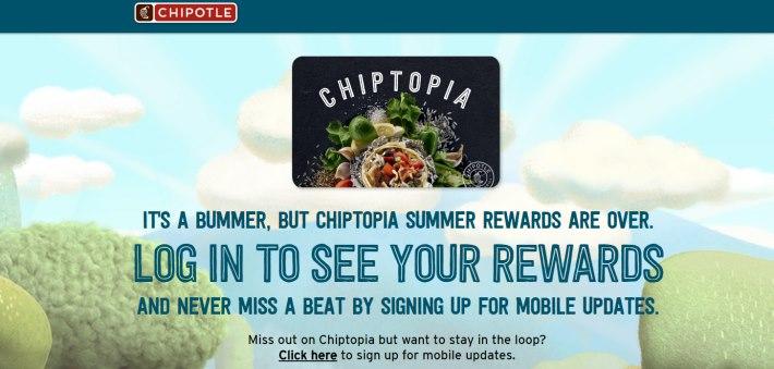 Chipotle loyalty program